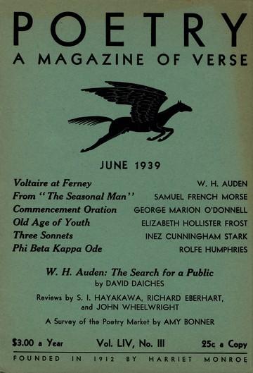 1939年6月诗刊封面