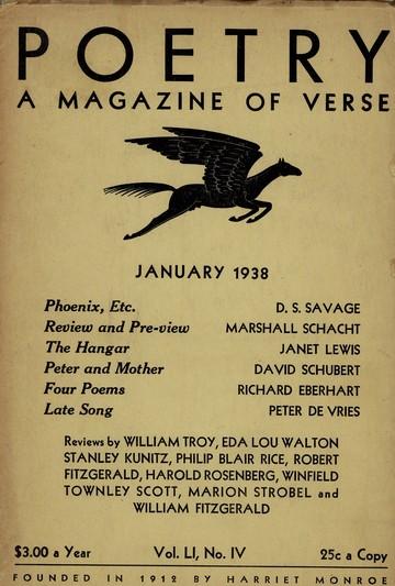 1938年1月诗歌杂志封面