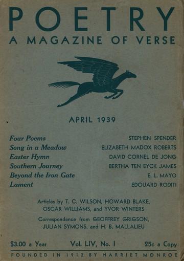 1939年4月诗歌杂志封面