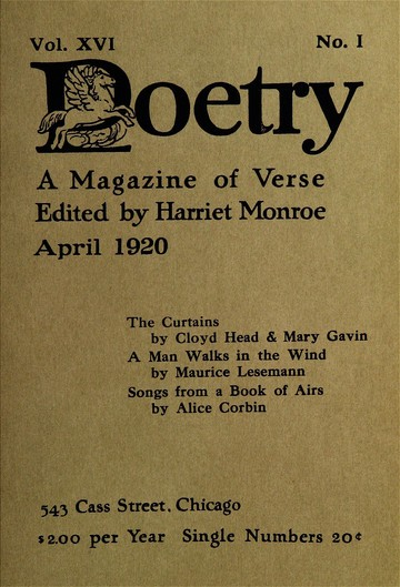 April 1920 | Poetry Magazine | Poetry Foundation