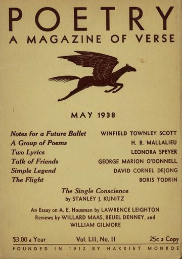 1938年5月诗歌杂志封面