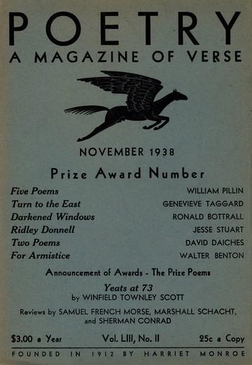 1938年11月诗歌杂志封面