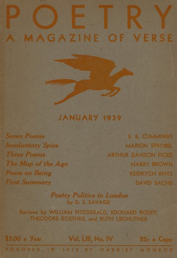 1939年1月诗刊封面