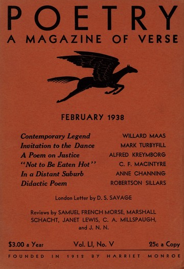 1938年2月诗歌杂志封面
