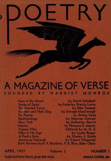 1937年4月诗歌杂志封面