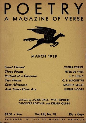 1939年3月诗刊封面