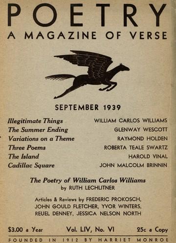 1939年9月诗歌杂志封面