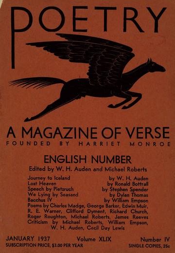 1937年1月诗刊封面