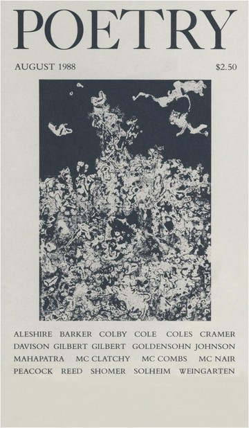 August 1988 Poetry Magazine cover