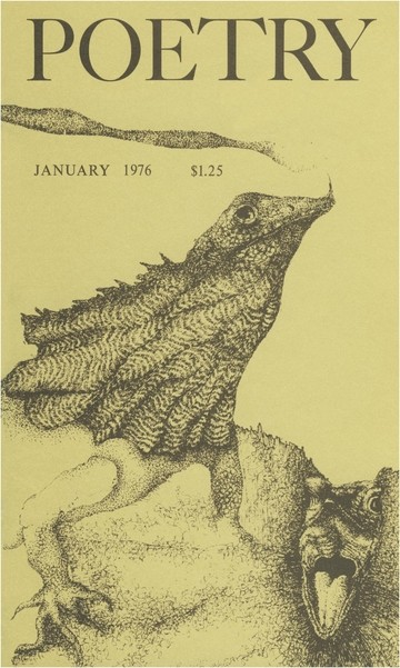 1976年1月诗歌杂志封面