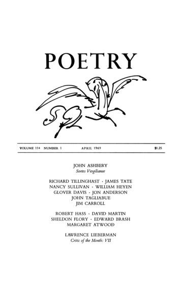 1969年4月诗歌杂志封面