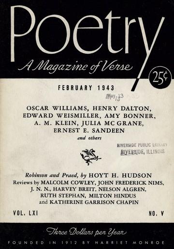 1943年2月诗歌杂志封面