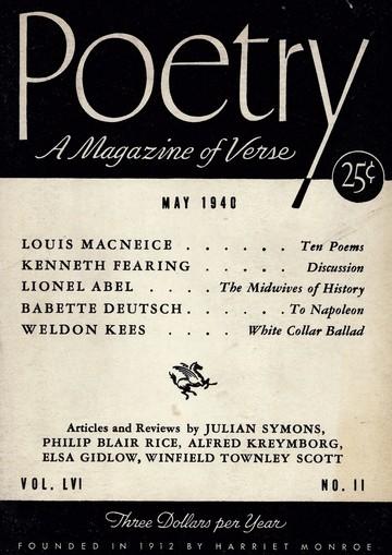 1940年5月诗歌杂志封面