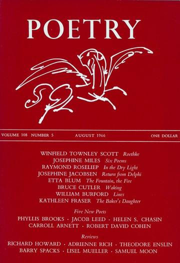 1966年8月诗刊封面