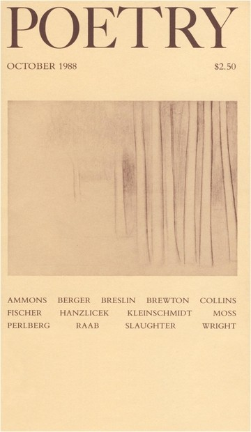 October 1988 Poetry Magazine cover