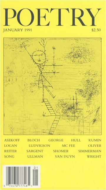 January 1991 Poetry Magazine cover