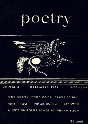 1947年12月诗刊封面