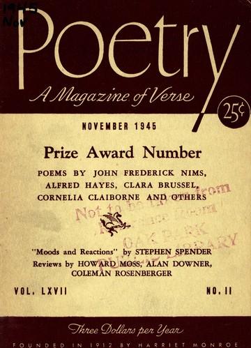 1945年11月诗刊封面