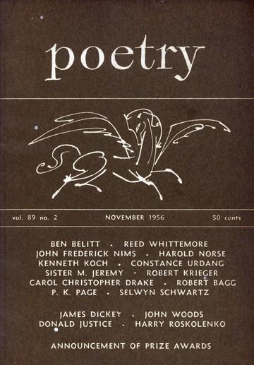 1956年11月诗歌杂志封面