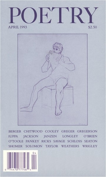 April 1993 Poetry Magazine cover