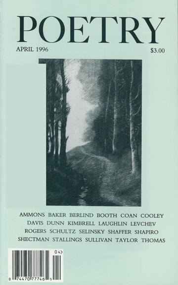 April 1996 Poetry Magazine cover