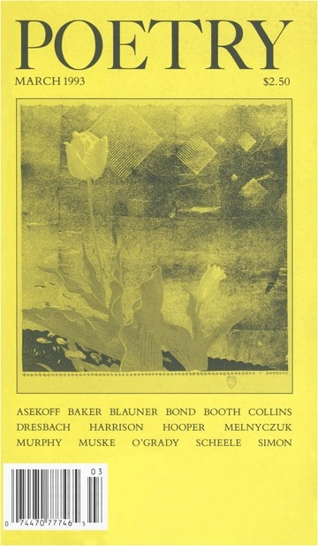 March 1993 Poetry Magazine cover