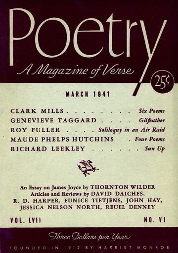 1941年3月诗歌杂志封面