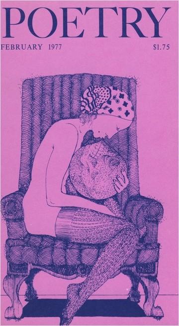 1977年2月诗歌杂志封面