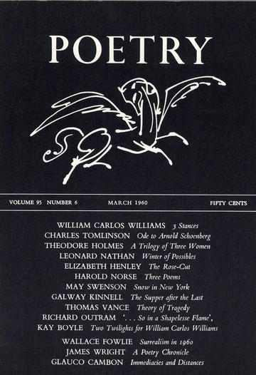 1960年3月诗歌杂志封面