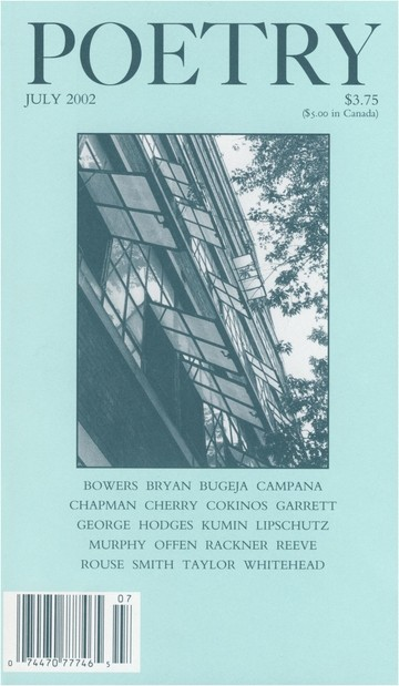 July 2002 Poetry Magazine cover