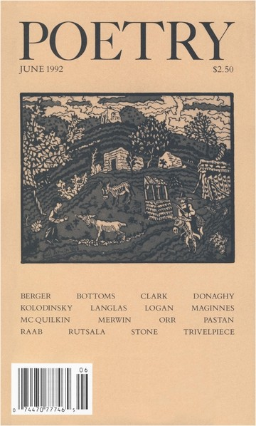 June 1992 Poetry Magazine cover