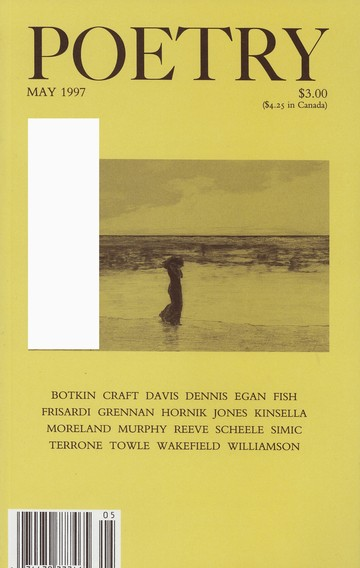 May 1997 Poetry Magazine cover