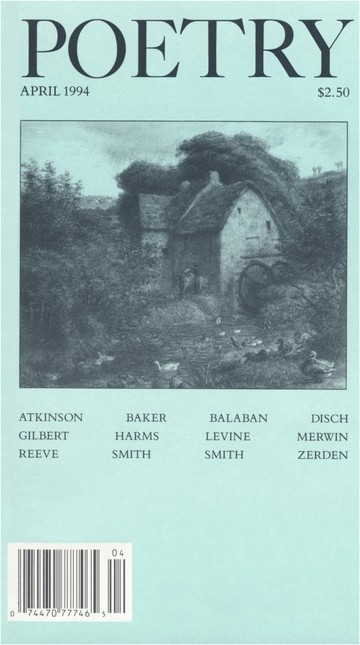 April 1994 Poetry Magazine cover
