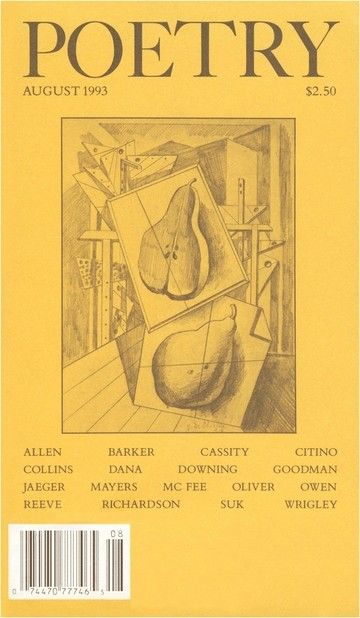 August 1993 Poetry Magazine cover