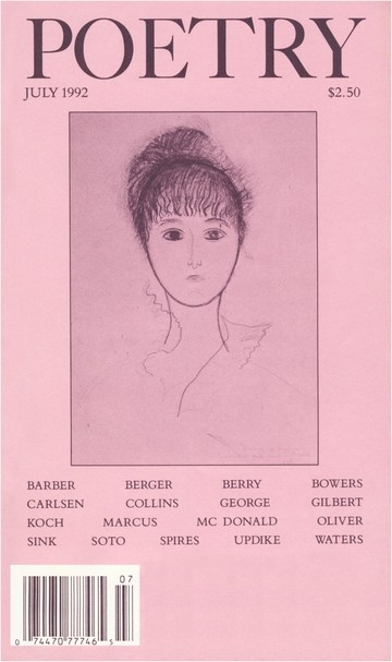 July 1992 Poetry Magazine cover