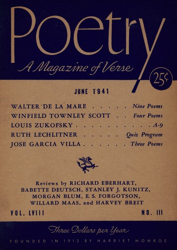 1941年6月诗歌杂志封面