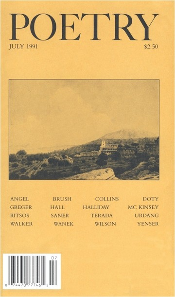 July 1991 Poetry Magazine cover