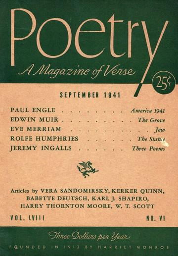 1941年9月诗歌杂志封面