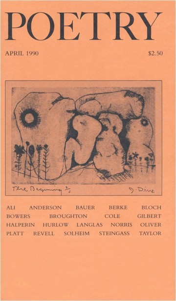 April 1990 Poetry Magazine cover