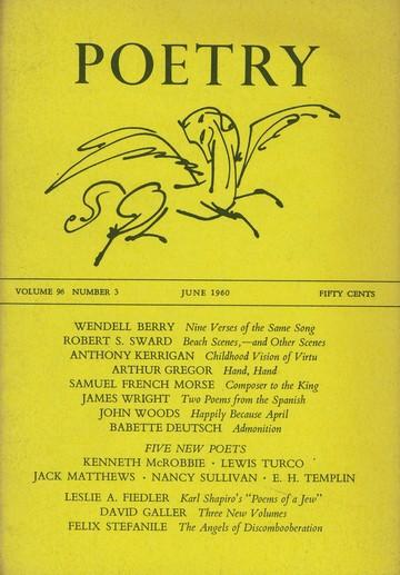 1960年6月诗歌杂志封面