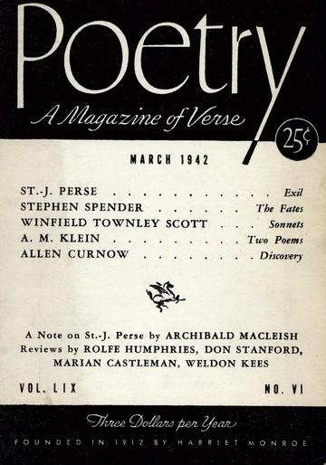 1942年3月诗歌杂志封面