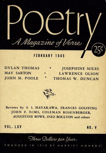 1945年2月诗歌杂志封面