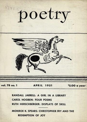 1951年4月诗歌杂志封面