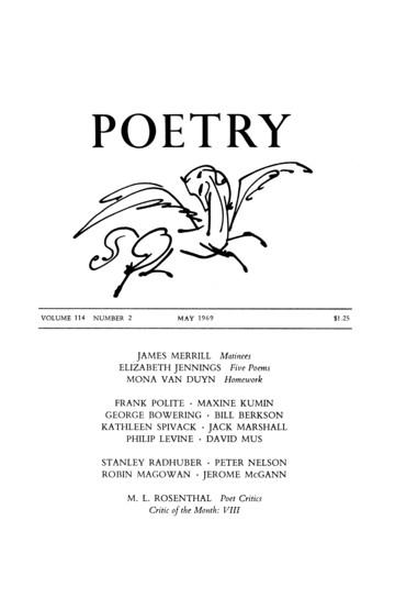 1969年5月诗歌杂志封面