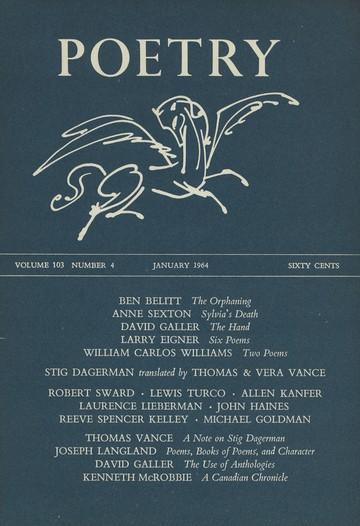 1964年1月诗歌杂志封面