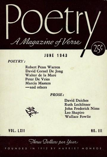 1943年6月诗歌杂志封面