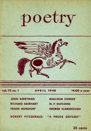1948年4月诗歌杂志封面