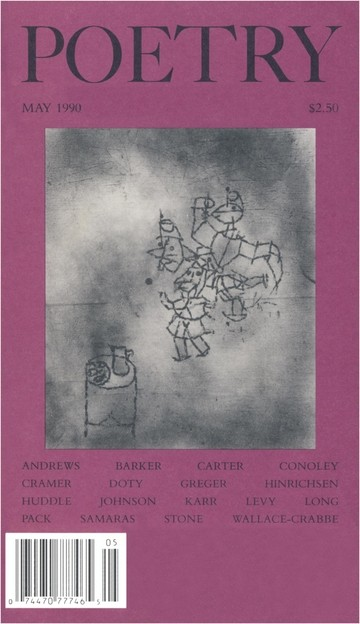 May 1990 Poetry Magazine cover
