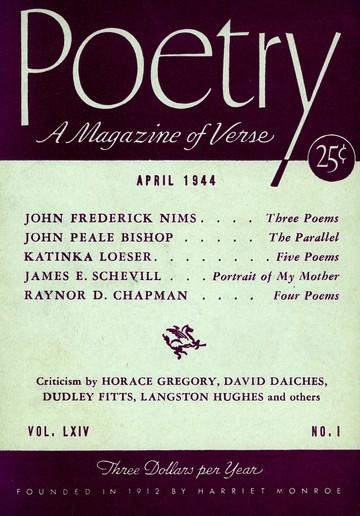 1944年4月诗歌杂志封面