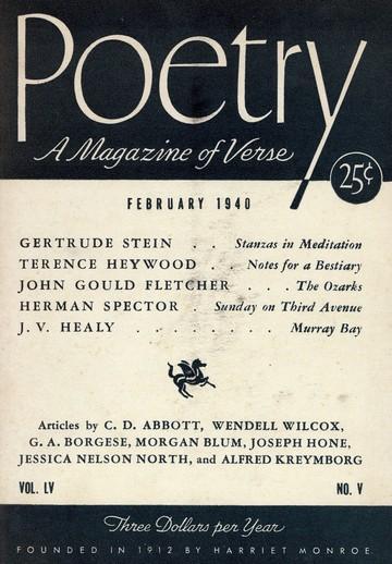 1940年2月诗歌杂志封面
